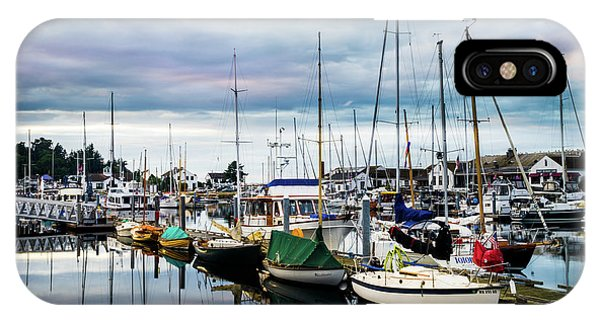 Port Townsend iPhone Case - Slips At Point Hudson Marina by TL Mair