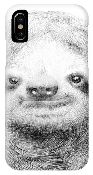 Pencil iPhone Case - Sloth by Eric Fan