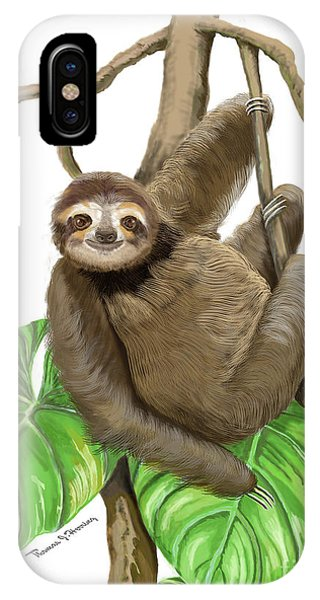 Hanging Three Toe Sloth  IPhone Case
