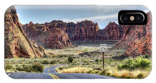 Slow Down In Snow Canyon IPhone Case