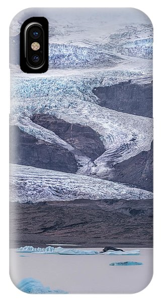 Glacier Bay iPhone Case - Slow Motion Glacier by Jon Glaser