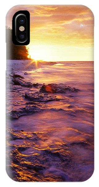 IPhone Case featuring the photograph Slow Ocean Sunset by T Brian Jones