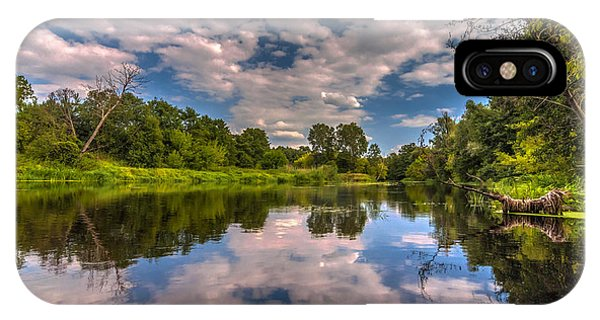 Slow River Reflections IPhone Case