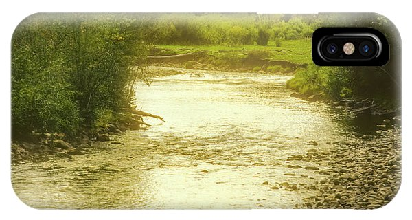 IPhone Case featuring the photograph Slow Stretch Of River by John Brink
