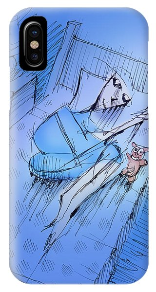 IPhone Case featuring the drawing Slumber by Keith A Link