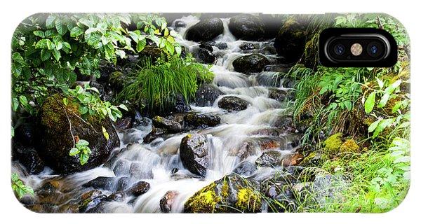 Small Alaskan Waterfall IPhone Case