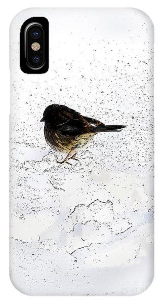Small Bird On Snow IPhone Case