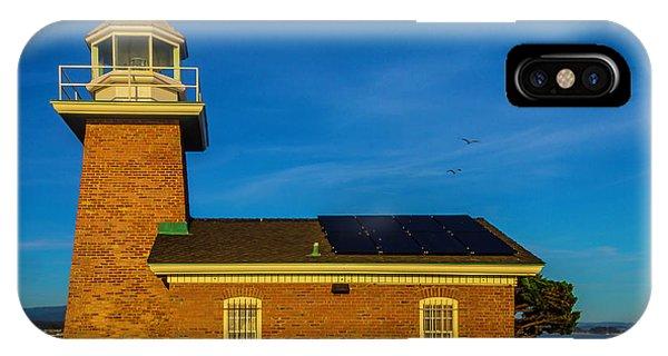 Santa Cruz Surfing iPhone Case - Small Brick Lighthouse by Garry Gay