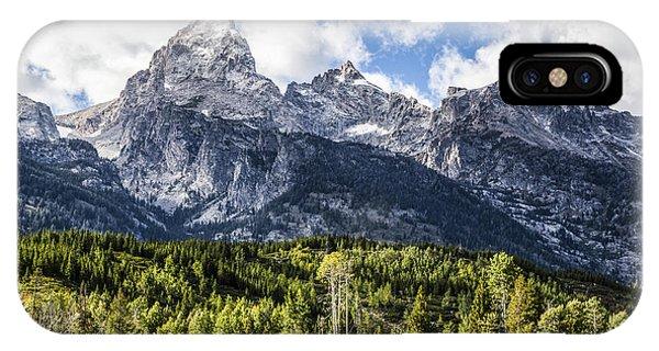 Small Cabin Below Big Mountain IPhone Case