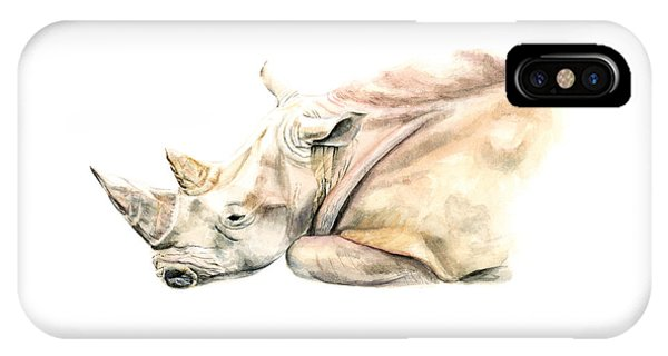 Small Colour Rhino IPhone Case