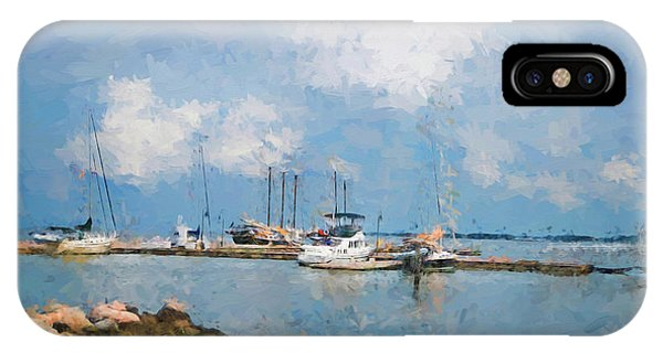 Small Dock With Boats IPhone Case