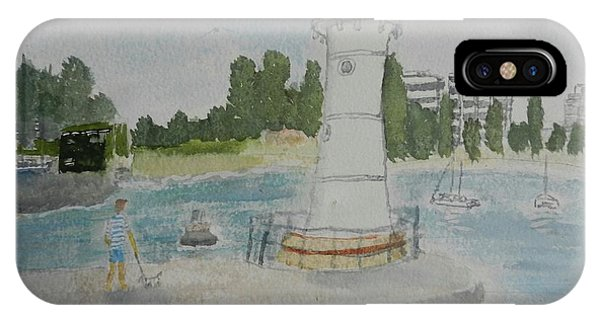 Small Lighthouse One Belmore Basin IPhone Case