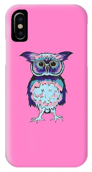 Small Owl Pink IPhone Case