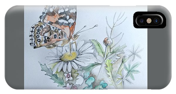 IPhone Case featuring the drawing Small Pleasures by Rose Legge