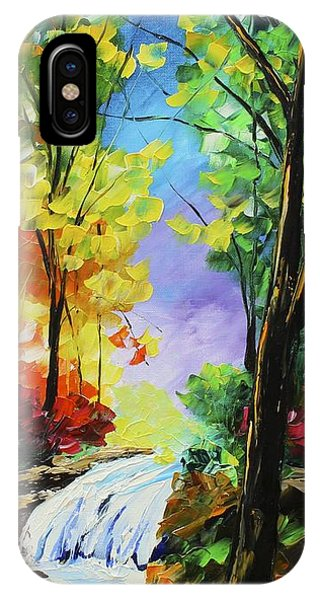 IPhone Case featuring the painting Small Waterfall by Kevin  Brown