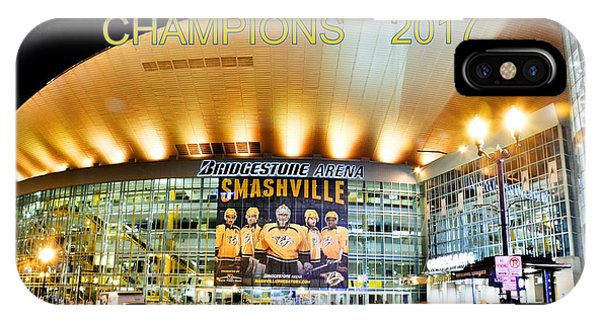 IPhone Case featuring the photograph Smashville Western Conference Champions 2017 by Lisa Wooten