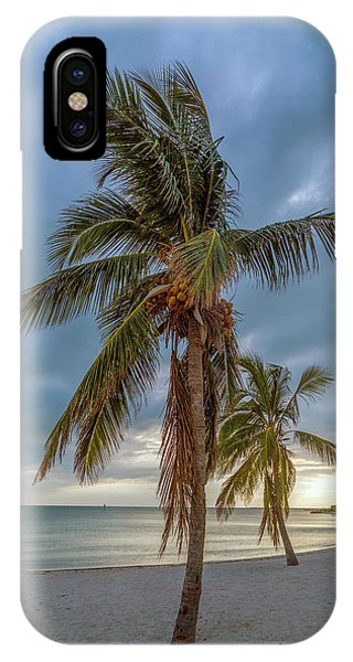 Uplift iPhone Case - Smathers Beach Coconut Sunset by Betsy Knapp
