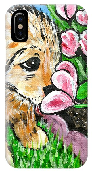Smelling The Flowers IPhone Case