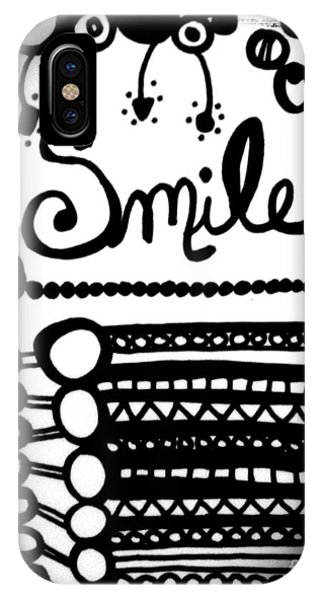 IPhone Case featuring the drawing Smile by Rachel Maynard