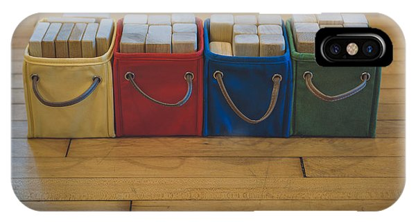 Primary Colors iPhone Case - Smiling Block Bins by Scott Norris