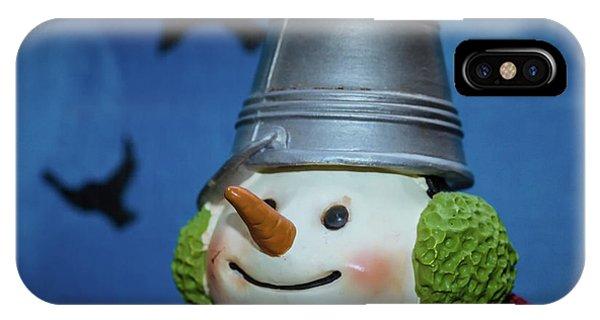 Smiling Snowman IPhone Case