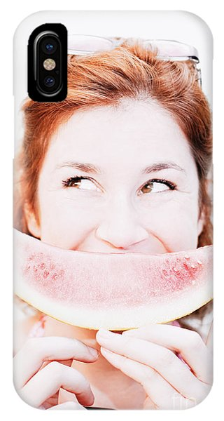 Summer Fruit iPhone Case - Smiling Summer Snack by Jorgo Photography - Wall Art Gallery