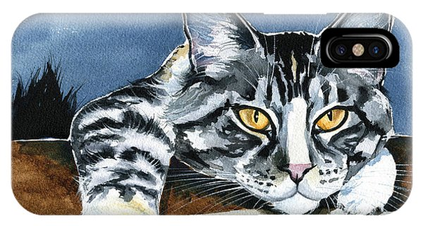 Smilla - Maine Coon Cat Painting IPhone Case