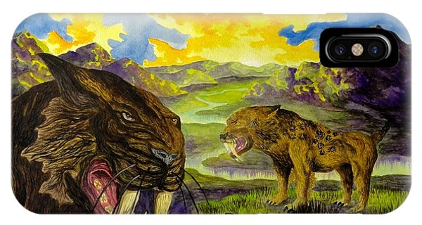 Smilodon IPhone Case