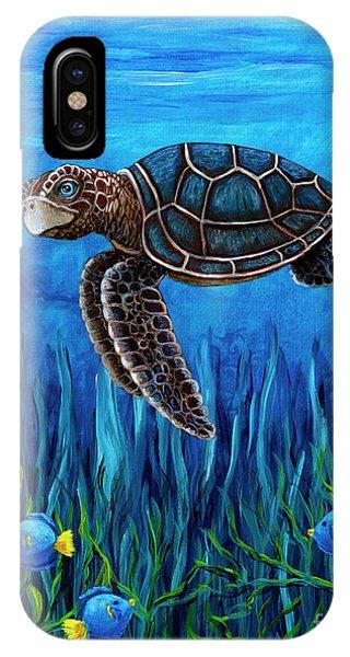 Smirking Turtle IPhone Case
