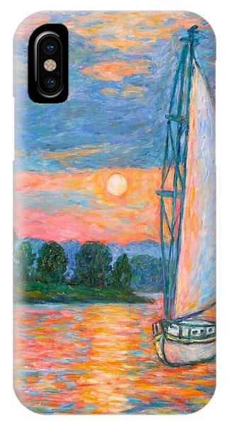 IPhone Case featuring the painting Smith Mountain Lake by Kendall Kessler