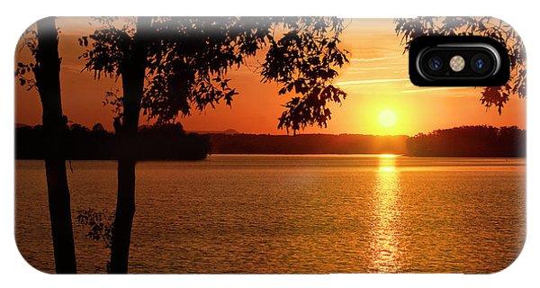 Smith Mountain Lake Silhouette Sunset IPhone Case