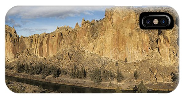 Smith Rock And Crooked River Panorama IPhone Case