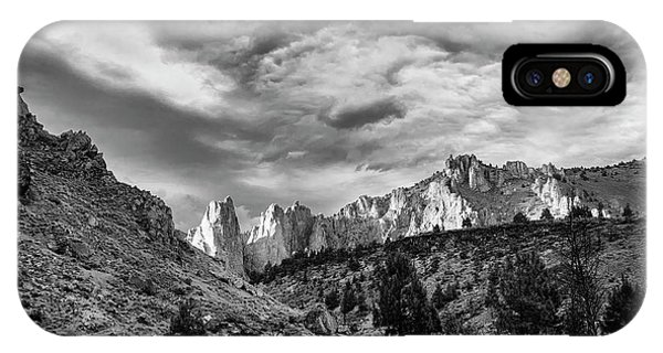Smith Rock Bw IPhone Case