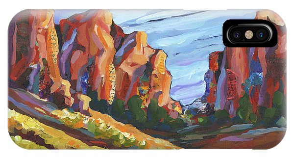 IPhone Case featuring the painting Smith Rock I by Shelli Walters