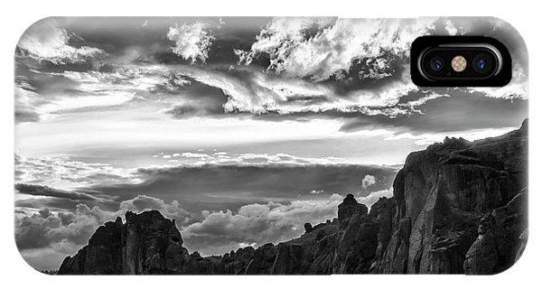 Smith Rock Skies IPhone Case