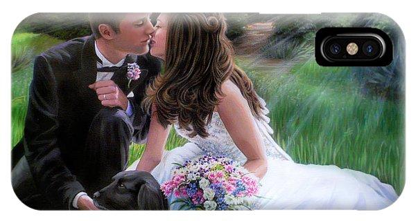 Smith Wedding Portrait IPhone Case