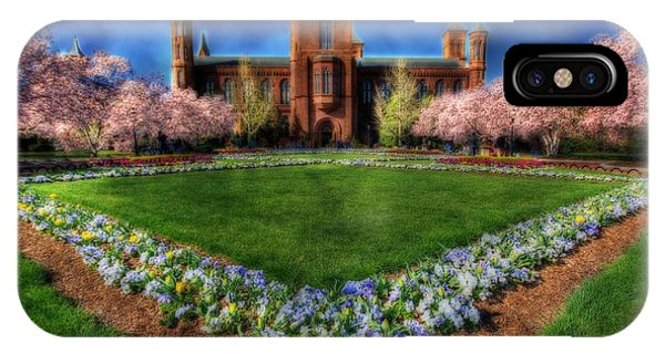 Spring Blooms In The Smithsonian Castle Garden IPhone Case