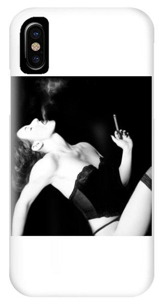 Smoke And Seduction - Self Portrait IPhone Case