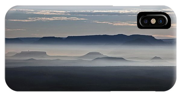 Smoke From Wildfires After Sunrise In The Verde Valley IPhone Case