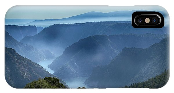 Smoke Over Flaming Gorge IPhone Case