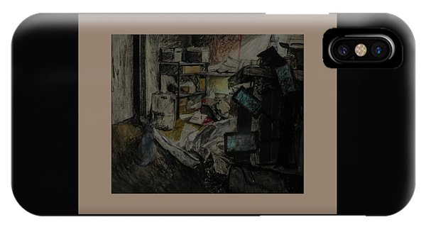 Guess iPhone Case - Smokey In My Studio by Lynne Guess