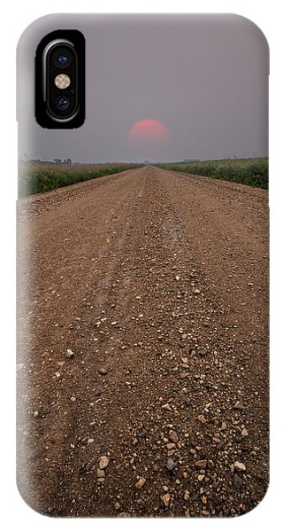 Middle Of Nowhere iPhone Case - Smokey Road To Nowhere by Aaron J Groen