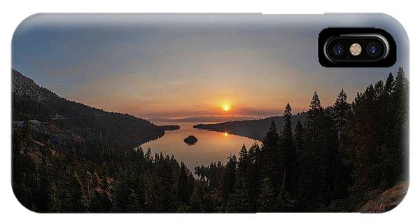 Smokey Sunrise At Emerald Bay IPhone Case