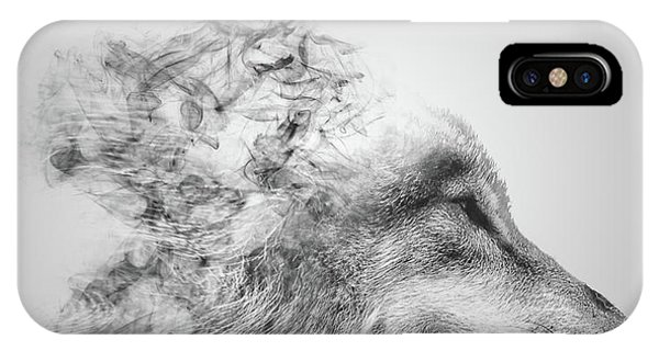 Digital Effect iPhone Case - Smokey Wolf by Martin Newman