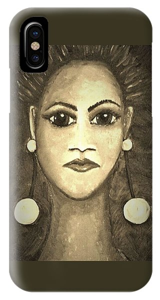 iPhone Case - Smoking Woman 1 by Joan Stratton