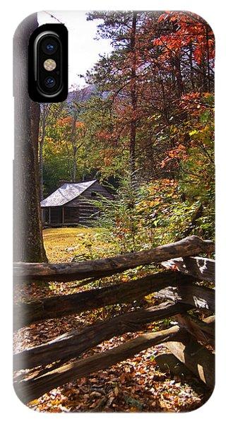 Smoky Mountain Log Cabin IPhone Case