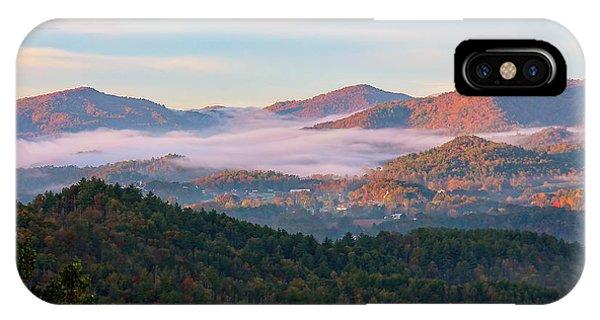 Smoky Mountain Valley Fog IPhone Case