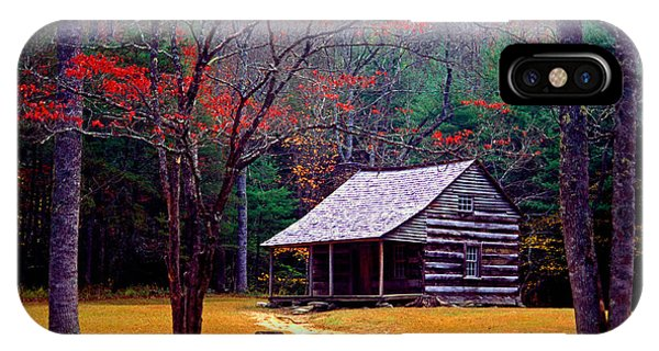 Smoky Mtn. Cabin IPhone Case