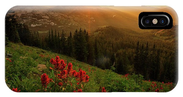 Smoky Wasatch Sunset IPhone Case