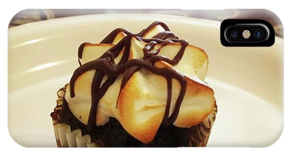 IPhone Case featuring the photograph smore Miniature Cupcake N Coffee by Mr Photojimsf